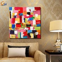 asian wall paintings - Framed Pure HandPainted Asian contemporary Colorful Abstract Wall Decor Art Oil Painting On High Quality Canvas Multi customized sizes Ab008