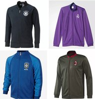 Wholesale AC Milan Brazil Germany new adult Jackets Tracksuits football training clothes high quality Sweatshirt