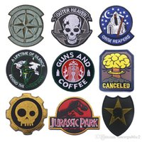 Wholesale 50 US Army Tactical Badge Hook Loop D Embroidery Badges Fabric Military Morale Patch Appliques Decorative Patches