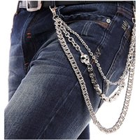 Wholesale Hip hop waist chain fashion new metal street rock waist chain skull women s and men s casual waist chain