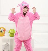 Wholesale Unisex Adult Pajamas Kigurumi Cosplay Costume Animal Onesie Stitch Pajamas Kigurumi Cosplay Animal Costume Sleepwear LJJK619