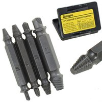 4PCS / Set Double Side Damaged Screw Extractor Drill Bits Out Remover Bolt Stud Tool Prix de gros ZJ0137