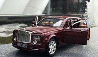 Wholesale Exquisite Rolls Royce Phantom Model Car Zinc Alloy AB Plastic Health Material Colors Available Flash Lamp Diecast Car For Collection