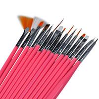 Wholesale OT Art Design Brushes Set pink color Painting Drawing Polish Brush Pen nail Tools