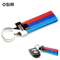 Wholesale Leather Belt Chrome Keyring Keychain Key Chain For BMW M Tech M Sport E46 E39 E60 F30 E90 F10 F30 E36 X5 E53 E30 E34 X1 X3 M3 M5
