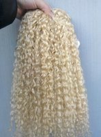 Wholesale Sufia Virgin Chinese Human Virgin Remy Hair Weft Kinky Curly Soft Blonde Clip In Hair Extensions