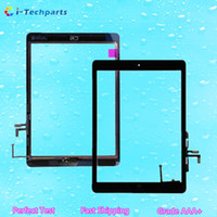 Wholesale New Original for iPad Air Touch Digitizer Screen Assembly with Home Button Flex Cable and Adhesive Black White