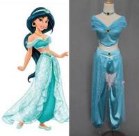 aladdin costumes - OISK Custom fairy tale Lamp of Aladdin Jasmine princess dress up for christmas halloween Brithday Party costumes