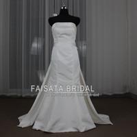 Wholesale Real Image Mermaid Wedding Dress Satin Elegant Bridal Dresses Gorgeous Sposa Detachable Remove Train Beach Bridal Gown Custom Vestidos