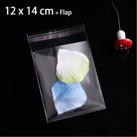 400pcs Nuevo bolso de empaquetado plástico del sello autoadhesivo para el caramelo los 12cmx14cm + 3cm despejan los pequeños bolsos del regalo