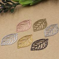 al por mayor pulseras de oro india-08008 35 * 20mm bronce antiguo / plata / rosa de oro / pistola filigrana negro encantos de la hoja para la fabricación de joyas, diecasting pendientes de metal India pulsera
