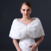 Faux fur jackets Цены-Недорогой Классный искусственного меха Люкс пальто пожимают плечами украл платок Болеро мыс Свадебная вечеринка шаль свадебный обруч куртки партии женщин шаль