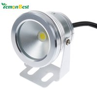 Wholesale W v underwater Led Light Warm White Waterproof IP68 fountain pool Lamp Silver Cover Body