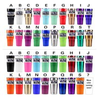Wholesale YETI Rambler Tumbler Cups COLORS in stock For Travel Vehicle Tumblerful Bilayer Vacuum Insulated Stainless MUG with logo HHA1088
