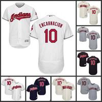 Wholesale Edwin Encarnacion Jersey Cleveland Indians Jersey Men Edwin Encarnacion Flexbase Cool Base All Stitched Embroidery Baseball Jersey