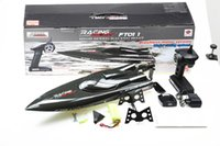 Wholesale F18144 Feilun FT011 CM Brushless Water Cooling High Speed Racing Boat RTR GHz RC Speedboat