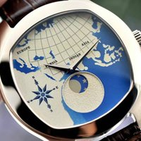 automatic earth - New Listing Mechanical Brand Luxury Mens Watch High Quality Automatic Mechanical Movement Rose Gold Dial Earth Pattern
