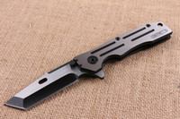 arrival finishes - 2016 New Arrival Strong Flipper Folding Knife C HRC Wire Drawing Finish Blade Outdoor Survival Folding Knife Collectable Knife