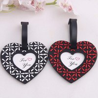 baggage tags - 2017 New Heart Airplane Luggage Tag Wedding Supplies Heart Baggage Tag Wedding Favors And Gift Unique Wedding Decorations
