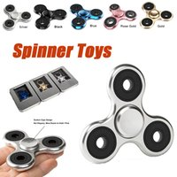 Plastic big material - Fidget Spinners Toy Ultra Durable Stainless Steel Bearing High Speed Min Spins Precision Brass Material Hand spinner EDC ADHD