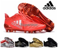 Wholesale Adidas X Purechaos Leather Gold Gilver Infrared Soccer Cleats Trainers NSG FG Ace Mens Football Boots Soccer Shoes With Box