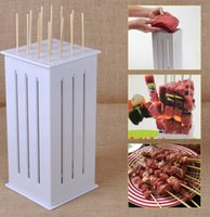 Wholesale Brochette Express Kabob Express Shish kabob Maker Box BBQ Kabob Maker Meat Skewer Machine Food Slicer Barbecue Tool KKA1030