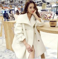 ban coat - Europe And The United States Ban Winter Cloak Wool Tweed Coat Dress Long Double Breasted Loose Thick Wool Woat