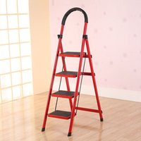 Wholesale Household folding ladder ladder ladder simple multifunctional portable telescopic A ladder