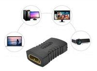 achat en gros de hdmi mini-adaptateur-Meilleur HDMI HDMI femelle à adaptateur convertisseur femelle Mini connecteur plat plaqué noir 300PCS UP