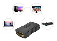 achat en gros de hdmi mini-adaptateur-Meilleur prix HDMI femelle à femelle Adaptateur convertisseur Noir Mini connecteur de convertisseur plaqué 300PCS UP
