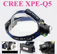 bicycle focus - Waterproof CREE XPE Q5 Zoomable LED Headlight Headlamp Head Lamp Light Zoomable Adjust Focus For Bicycle Camping Hiking