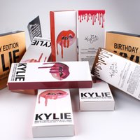 Wholesale 29 all colorKYLIE JENNER LIP KIT liner Kylie Lipliner pencil Velvetine Liquid Matte Lipstick in Red Velvet Makeup Lip Gloss Make Up colorful