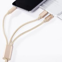 Wholesale 3 in Double Micro USB Data Charge Cable For Samsung and s Android Phone Charger Wire