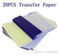 Wholesale 20Pcs Tattoo Stencil Transfer Paper A4 Size Thermal Copier Paper Supplies Tattoo Accessories For Tattoo Supply