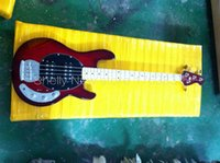 battery factory shop - Shelly new store factory custom red Music Man StingRay strings bass V battery electric bass guitars musical instruments shop