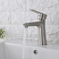 Wholesale HS Stainless Steel Bathroom Sink Faucet Bathroom Tap Deck Mounted Made of Stainless Steel Bathroom Faucet Brand New