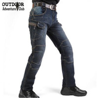 Wholesale New IX7 SWAT Military Style Cargo Jeans Men Casual Motorcycle Denim Biker Jeans Elastic Tactical Clothing Outdoors Army Jeans