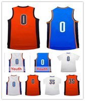 Cheap Tennis Russell Westbrook jersey Best Men Sleeveless 35 Kevin Durant Jersey