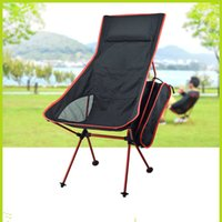 Wholesale Portable Ultralight Collapsible Moon Leisure Camping Chair with Carrying Bag for Outdoor Hiking Travel color