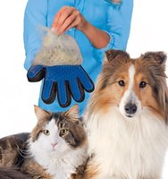 Wholesale True Touch Deshedding Brush Glove Gentle And Efficient Grooming Removal Glove Bath Dog Cat Brush Comb LC534