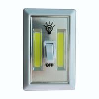Wholesale Hot Selling COB LED Switch Light Wireless Cordless Under Cabinet Closet Kitchen RV Night Light Fast Shipping