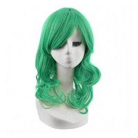 apples wigs - Medium Length Apple Green Wig Women s Girl s Curly Synthetic Hair Wigs Synthetic Hair Wigs