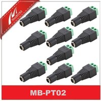 Wholesale 10PCS Female DC Power Connector Terminal Plug Adaptor Balun For CCTV Video