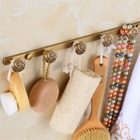 antique garage doors - Antique Brass WALL DOOR MOUNTED Towel CLOTH HAT HOOK RACK ROBE KEY HANGER HOLDER HANGING HIGH QUALITY