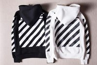 Wholesale 2016 Onsale Off White Hoodies Jacket Men Women High Quality Kanye West Off White Abloh Virgil Hoodie Sweatshirt Pullover Off White Hoodies