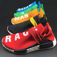 Pharrell Williams Shoes x Adidas NMD Human Race blue white Super