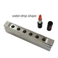 aluminum teardrop - cavities holes aluminum lipstick mold mould for lipbalm_Waterdrop Teardrop Shape mm mm moq set