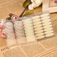 Wholesale Size Thick and Thin White Stripe Makeup Eyeliner Eyelid Tape Stickers for Making The Eyes Bigger Frees Ship