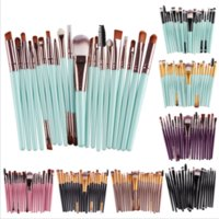 Wholesale 20 Professional Eye brush set eyeshadow Eyebrow Lip Makeup Foundation Mascara Blending Pencil brush Make up Brushes tools Cosmetic
