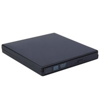 Wholesale NEW Portable USB DVD CD DVD Rom SATA External Case Slim for Laptop Notebook Black External Hard Drive Disk Enclosure